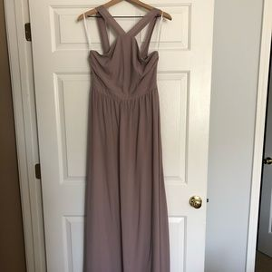Lulu's Air of Romance Maxi Dress - taupe